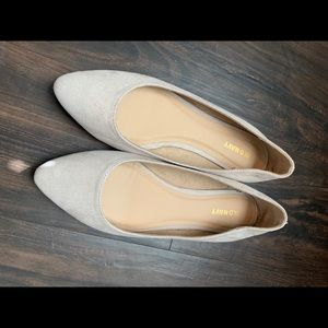 Nude Pointed Toe Ballet Flats